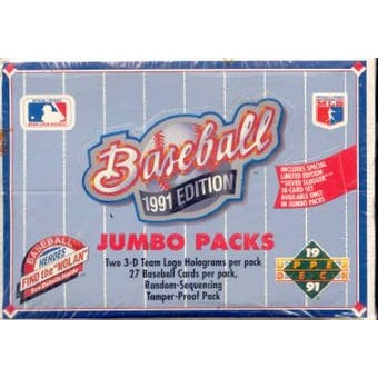1991 Upper Deck Low # Baseball Jumbo Box