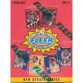 1991/92 Fleer Series 2 Basketball Wax Box