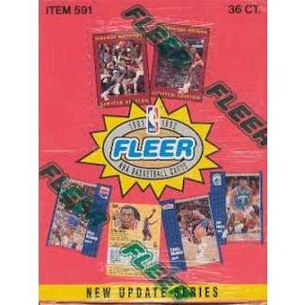 1991/92 Fleer Series 2 Basketball Wax Box