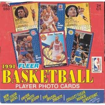 1991/92 Fleer Basketball Cello Box