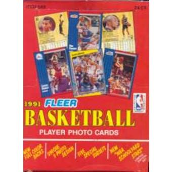 1991/92 Fleer Basketball Series 1 Rack Box