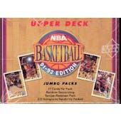 1991/92 Upper Deck Low # Basketball Jumbo Box (Reed Buy)