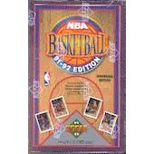 1991/92 Upper Deck Low # Basketball Hobby Box