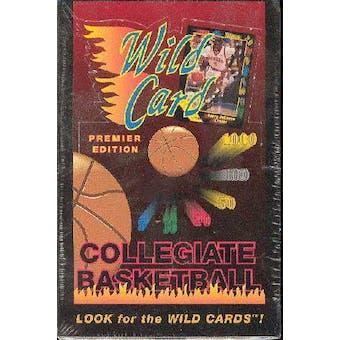 1991/92 Wild Card Collegiate Basketball Hobby Box