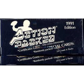 1991 Action Packed Football Wax Box