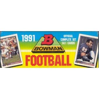 1991 Bowman Football Factory Set