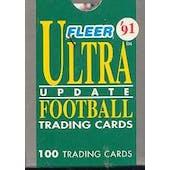 1991 Fleer Ultra Update Football Factory 50 Set Case (Reed Buy)