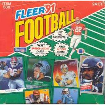 1991 Fleer Football Jumbo Box
