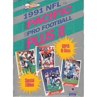 1991 Pacific Plus Series 2 Football Wax Box