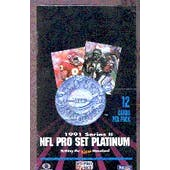 1991 Pro Set Platinum Series 2 Football Wax Box (Reed Buy)