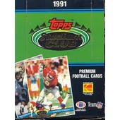 1991 Topps Stadium Club Football Wax Box (Reed Buy)