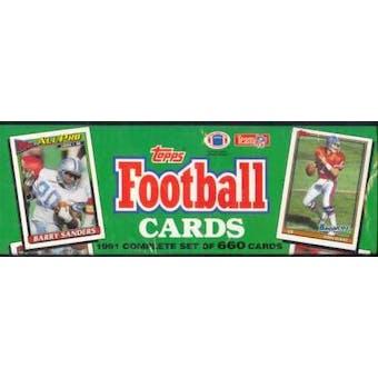 1991 Topps Football Factory Set (Christmas Box)