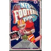 1991 Upper Deck Low # Football Wax Box