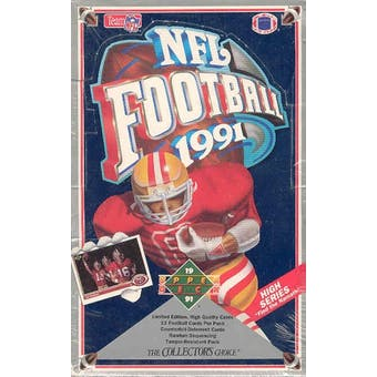 1991 Upper Deck Hi # Football Wax Box