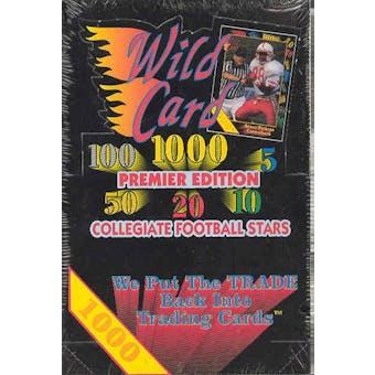1991 Wild Card Collegiate Football Hobby Box