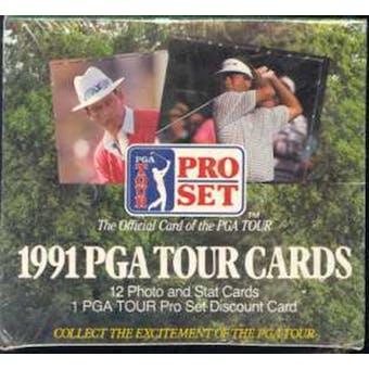 1991 Pro Set Golf Wax Box