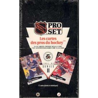 1991/92 Pro Set French Series 2 Hockey Box