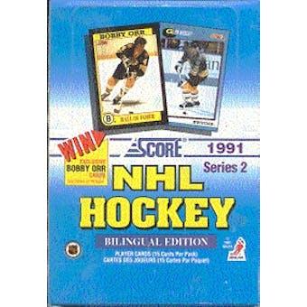 1991/92 Score Canadian Bilingual Series 2 Hockey Hobby Box