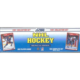 1991/92 Score Bilingual Hockey Factory Set