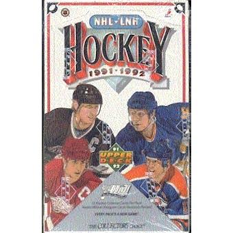 1991/92 Upper Deck English Low # Hockey Wax Box