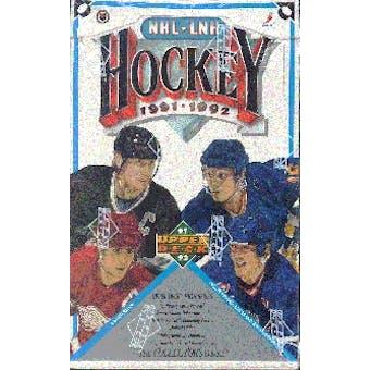 1991/92 Upper Deck English Hi # Hockey Wax Box