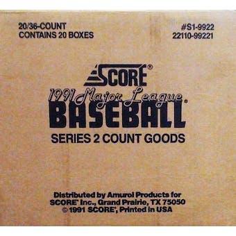 1991 Score Series 2 Baseball Wax Case