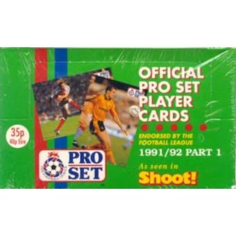 1991/92 Pro Set MLS Soccer Box