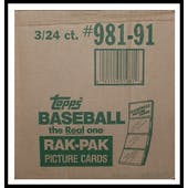 1991 Topps Baseball 3 Box Rack Case (Reed Buy)