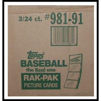 1991 Topps Baseball Rack 3-Box Case