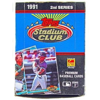 1991 Topps Stadium Club Series 2 Baseball Wax Box (Reed Buy)