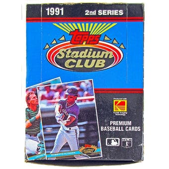 1991 Topps Stadium Club Series 2 Baseball Wax Box