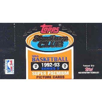 1992/93 Topps Stadium Club Series 2 Basketball Jumbo Box