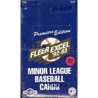 1992/93 Fleer Excel Minor League Baseball Jumbo Wax Box