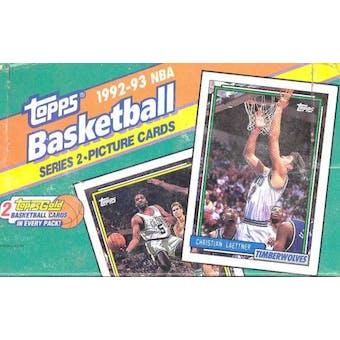 1992/93 Topps Series 2 Basketball Jumbo Box