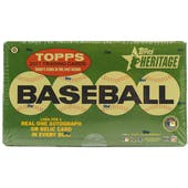 2011 Topps Heritage Baseball Hobby Box