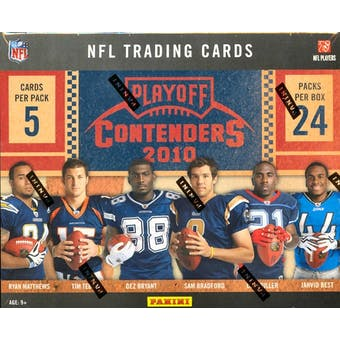 2010 Playoff Contenders Football Hobby Box (Reed Buy)