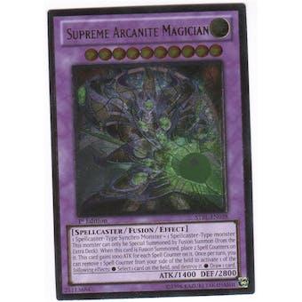 Yu-Gi-Oh Starstrike Blast 1st Ed. Single Supreme Arcanite Magician Ultimate Rare