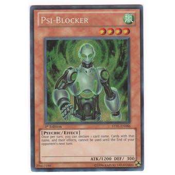 Yu-Gi-Oh Starstrike Blast 1st Ed. Single Psi-Blocker Secret Rare - NEAR MINT (NM)
