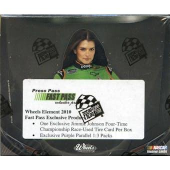 2010 Press Pass Element Fast Pass Racing Hobby Box