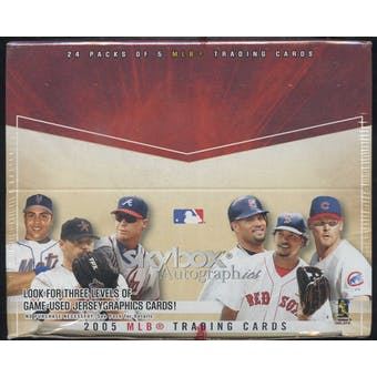 2005 Fleer Skybox Autographics Baseball 24 Pack Box (Upper Deck)