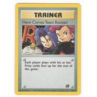 Pokemon Team Rocket 1st Edition Single Here Comes Team Rocket Trainer 15/82