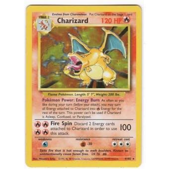 Pokemon Base Set 1 Single Charizard 4/102 SLIGHT PLAY (SP)