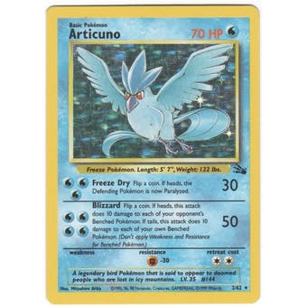 Pokemon Fossil Single Articuno 2/62 - NEAR MINT (NM)