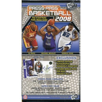 2008/09 Press Pass Basketball 5-Pack Box (Rose and Love)