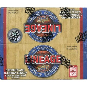 2008/09 Upper Deck Lineage Basketball 24-Pack Box