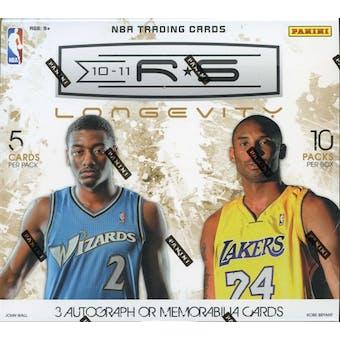 2010/11 Panini Rookies & Stars Longevity Basketball Hobby Box