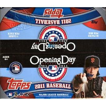 2011 Topps Opening Day Baseball Box