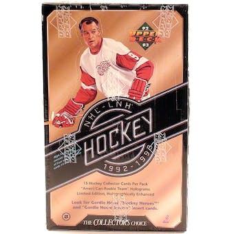 1992/93 Upper Deck Series 2 Hockey Hobby Box