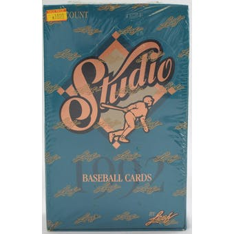 1992 Leaf Studio Baseball Hobby Box (Reed Buy)