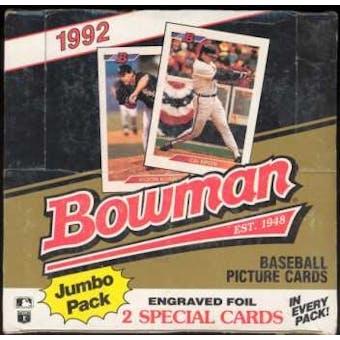 1992 Bowman Baseball 36 Pack Jumbo Box